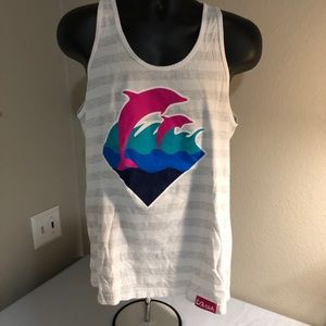 Pink Dolphin 🐬 tank top large